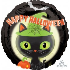 Halloween Standard HX Black Kitty Cat Foil Balloon