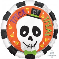 Halloween Standard HX Skull Foil Balloon