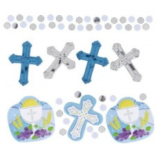 First Communion Blue  Confetti