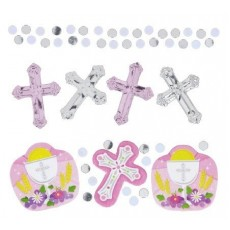 First Communion Pink  Confetti