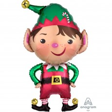 Christmas SuperShape XL Jolly  Elf Shaped Balloon