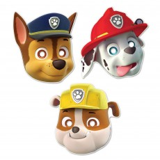 Paw Patrol Party Masks Pack of 8