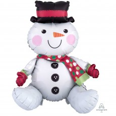 Christmas CI: Multi-Balloon Sitting Snowman Shaped Balloon