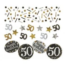 50th Birthday Sparkling Celebration Confetti 34g