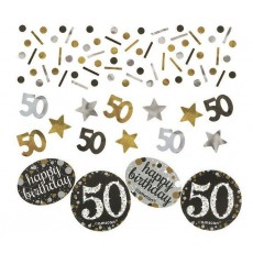50th Birthday Sparkling Celebration Confetti