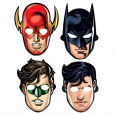 Justice League Party Masks Pack of 8