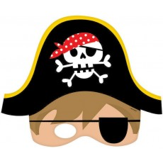Pirate's Treasure Little Pirate Party Masks Pack of 8