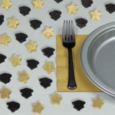 Graduation Party Decorations - Confetti Caps & Stars Scatter