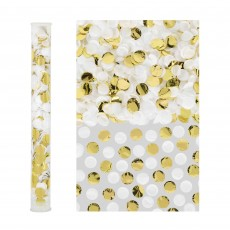 Gold & White Confetti Tube Misc Accessories