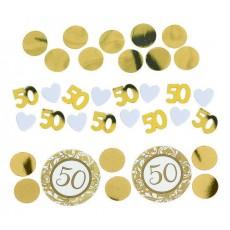 50th Anniversary Gold  Confetti