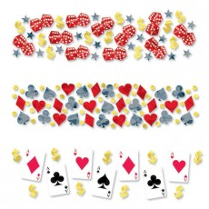 Casino Night Place Your Bets Confetti