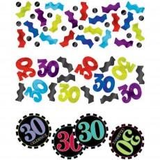 30th Birthday Chevron Celebration Confetti