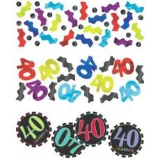 40th Birthday Chevron Celebration Confetti