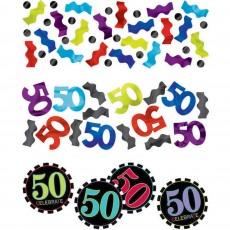 50th Birthday Chevron Celebration Confetti