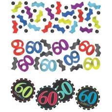 60th Birthday Chevron Celebration Confetti