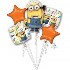 Minions Despicable Me Bouquet Shaped Balloons Pack of 5