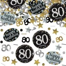80th Birthday Sparkling Celebration Confetti 34g