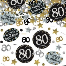 80th Birthday Sparkling Celebration Confetti