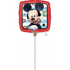 Square Mickey Mouse Roadster Racers Foil Balloon 22cm