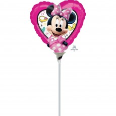 Heart Minnie Mouse Happy Helpers Shaped Balloon 22cm