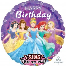 Round Disney Princess Jumbo XL Sing-A-Tune Singing Balloon 71cm x 71cm