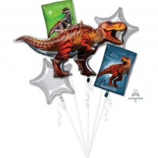 Jurassic World Bouquet Foil Balloons Pack of 5