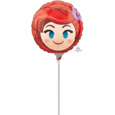 The Little Mermaid Ariel Emoji Foil Balloon