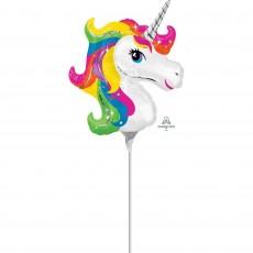 Unicorn Fantasy Party Decorations - Shaped Balloon Mini Rainbow Unicorn
