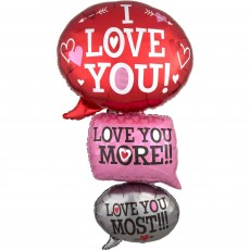 Love Giant Multi-Balloon Bubbles Shaped Balloon