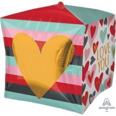 Cubez UltraShape Trendy Love You Shaped Balloon 38cm x 38cm