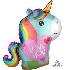 Love Unicorn Foil Balloon