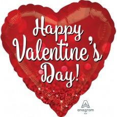 Valentine's Day Standard HX Sparkle Shaped Balloon