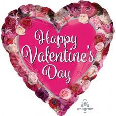 Valentine's Day Standard Rose Border Shaped Balloon