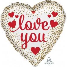 Love Hearts & Dots Foil Balloon