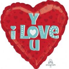 Heart Standard HX Type I Love You Shaped Balloon 45cm