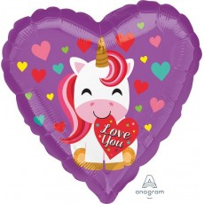 Love Standard HX Unicorn Shaped Balloon