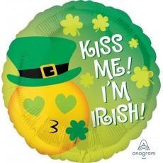 St Patrick's day Standard HX Emoticon Foil Balloon