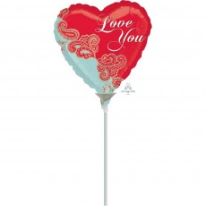 Love Paisley Shaped Balloon