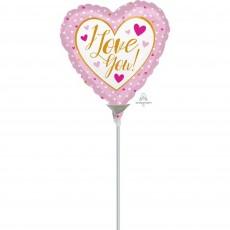 Love Gold & Pink  Foil Balloon