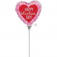 Valentine's Day with Glitter Hearts Shaped Balloon