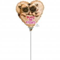 Love Avanti Pugs & Kisses Shaped Balloon