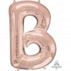 Rose Gold Letter B SuperShape Shaped Balloon 86cm