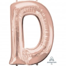 Letter D Rose Gold  Megaloon Foil Balloon