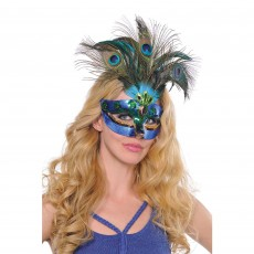 Mardi Gras Peacock Feather Mask Head Accessorie