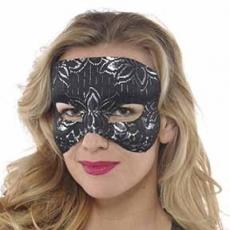 Black Party Supplies - Lace Mask