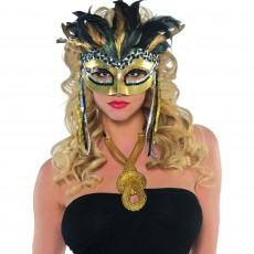 Mardi Gras Warrior Goddess Feather Mask Head Accessorie