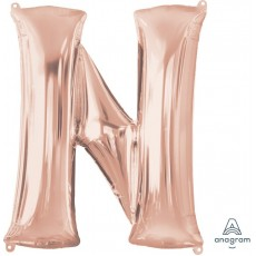 Letter N Rose Gold  Megaloon Foil Balloon