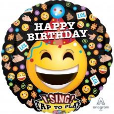 Emoji Sing-A-Tune XL LOL Emoticons Singing Balloon