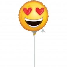 Emoji Emoticon Love & Kisses Foil Balloon