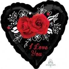 Love Romantic Roses Foil Balloon